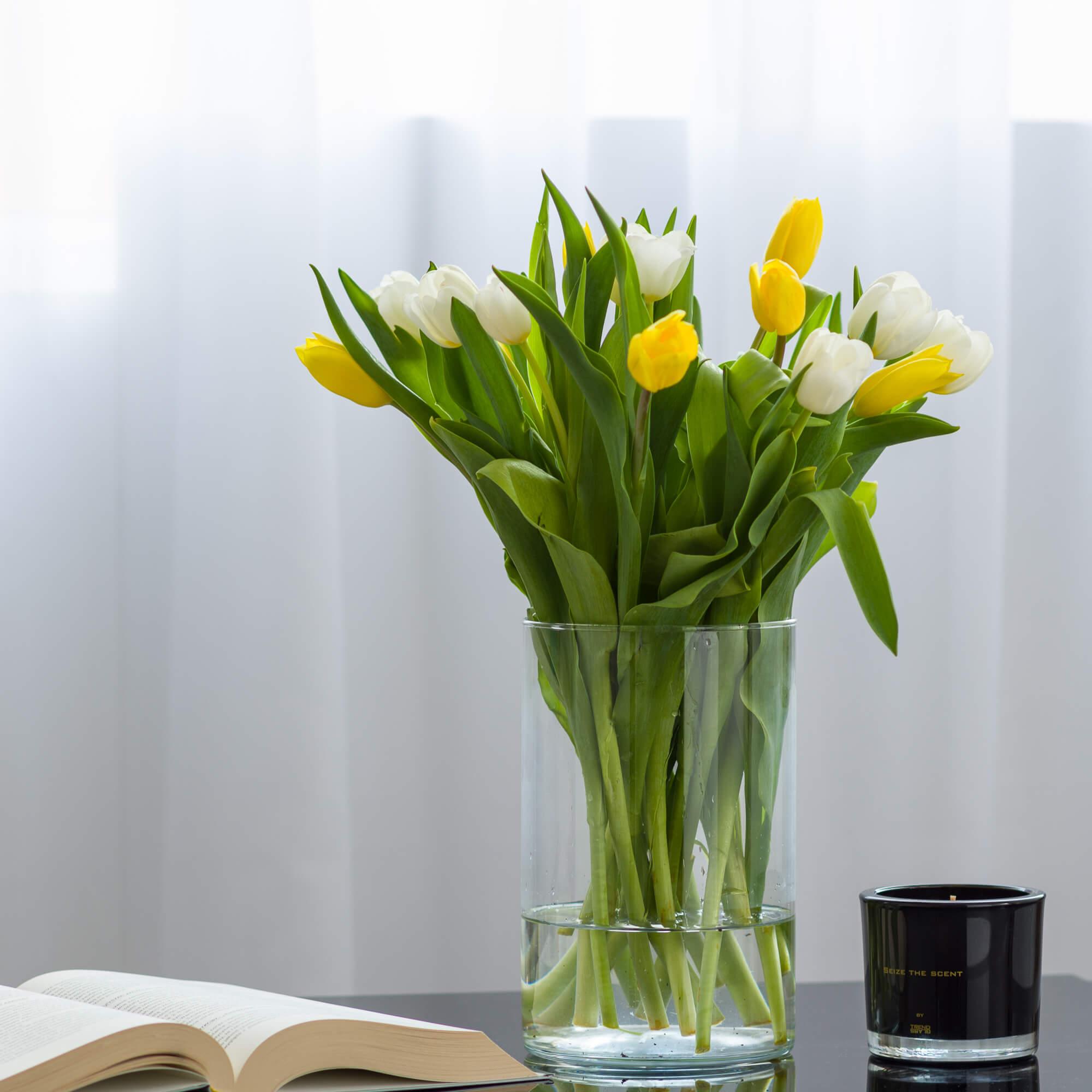 Cylinder Szklany Wysoki Wazon Szklany Na Kwiaty H 20cm D11 Gotglass