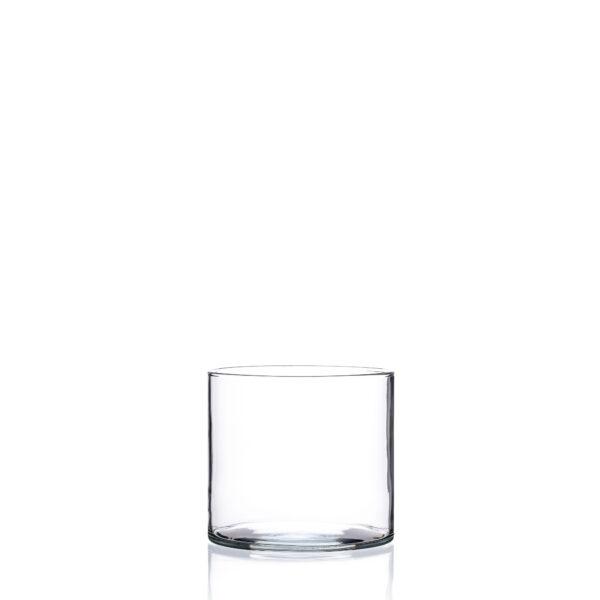 Wazon szklany niski - cylinder pojemnik H 8 D10 35528