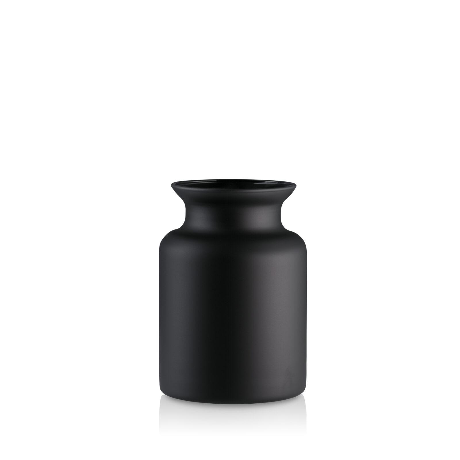 Słój wazon szklany H 20 czarny mat