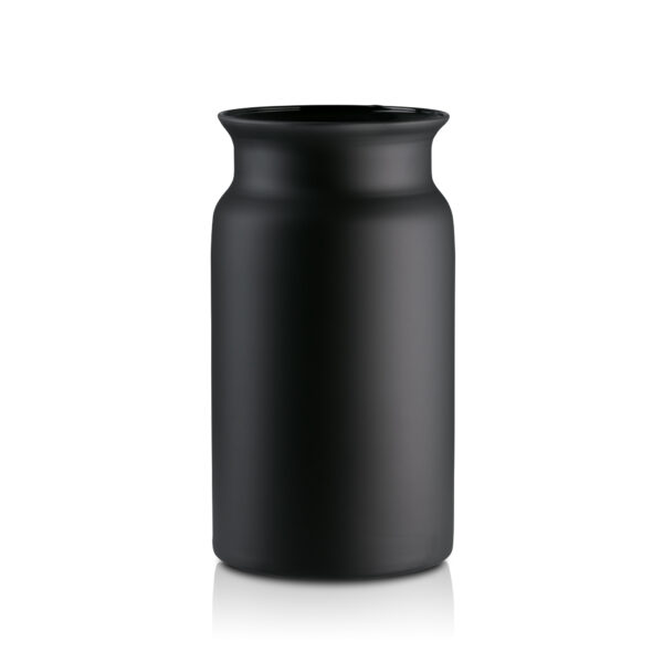 Słój wazon szklany na kwiaty H30 czarny mat