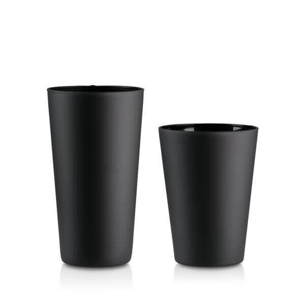 Wazon szklany czarny mat- zestaw 2 szt.