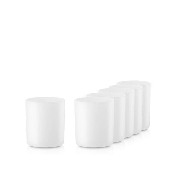 Pojemnik szklany szklanka do zalewu świec 38006-kpl6 biały mat