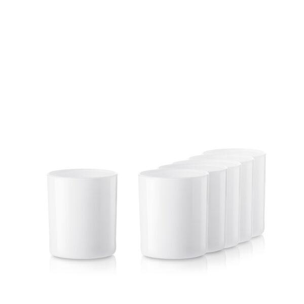 Pojemnik szklany szklanka do zalewu świec 38006-kpl6 biały połysk