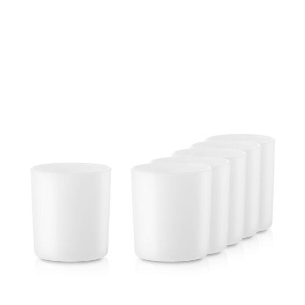 Pojemnik szklany pod zalew świec 70848-kpl6 biały mat
