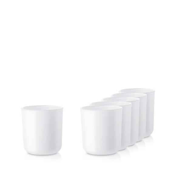 Szklanka pojemnik biały mat- kpl. 6 szt.