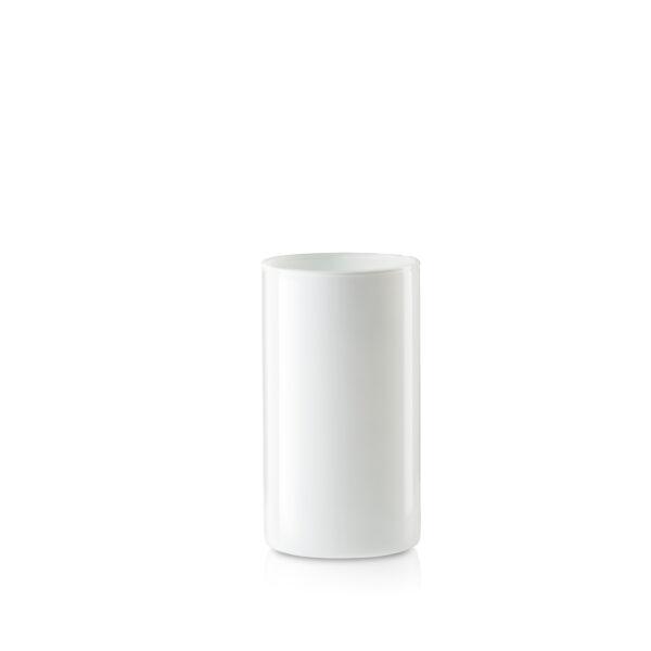 Wazon szklany biały błyszczący H20