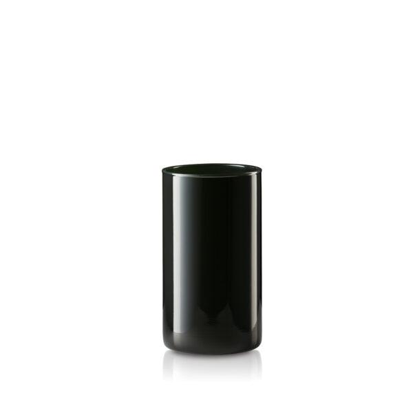 Wazon szklany czarny błyszczący H20