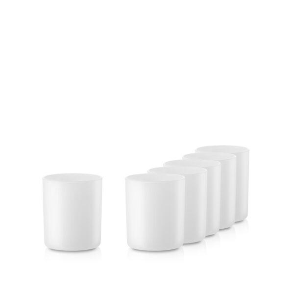 Pojemnik szklany pod zalew świec 70831-kpl6 biały mat