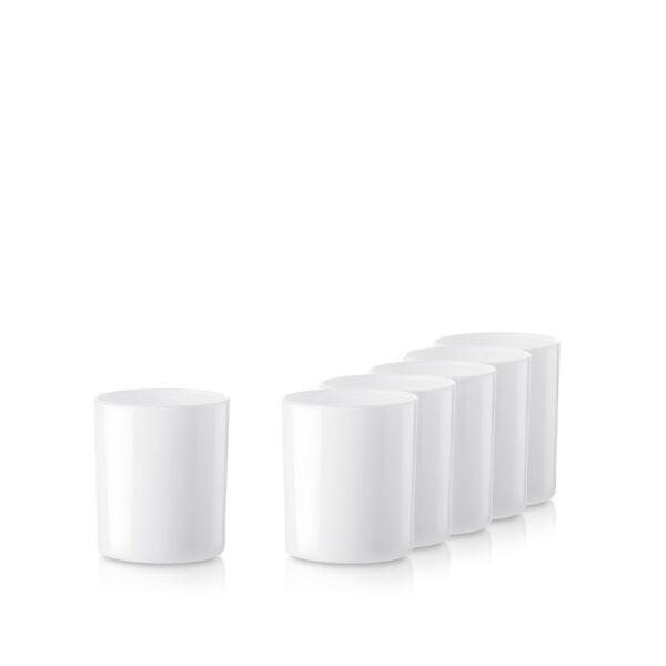 Pojemnik szklany pod zalew świec 70831-kpl6 biały połysk