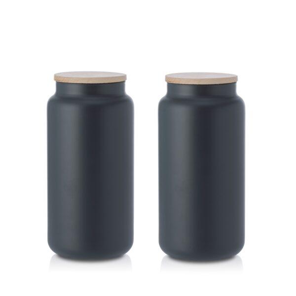 Pojemnik szklany na żywność z pokrywką kpl 2 1,1 L