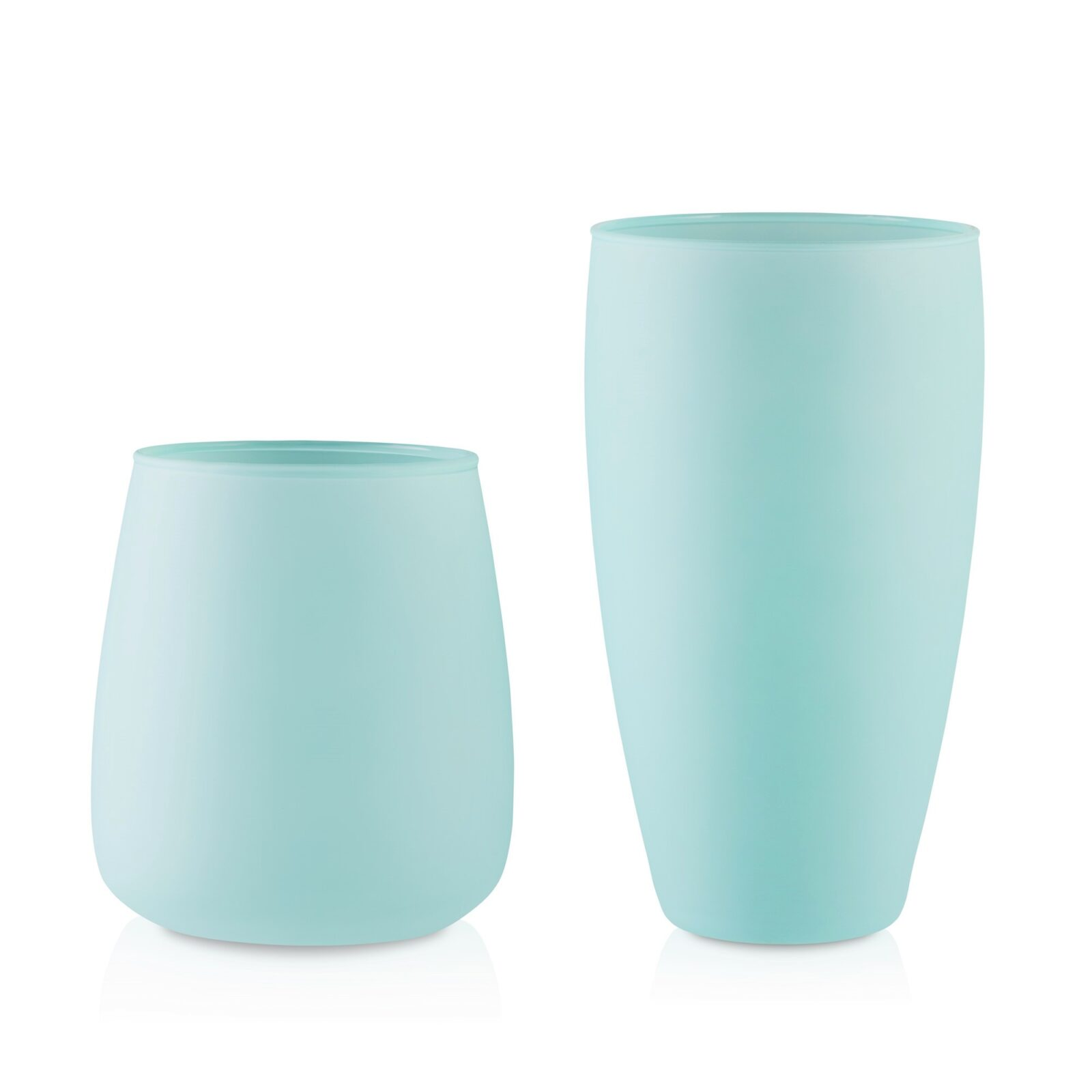 Wazon szklany wiosenny pastelowy miętowy