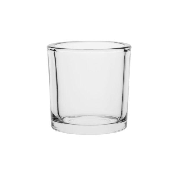 Świecznik szklany cylinder wazon H 10cm kpl6 70823