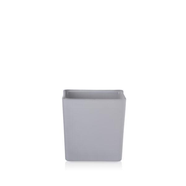 Osłonka doniczka kwadratowa szary mat 12cm