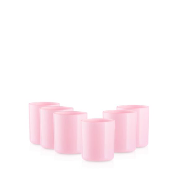 Pojemnik szklany szklanka do zalewu świec 38006 różowy