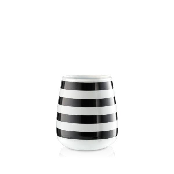 Wazon szklany biało czarny