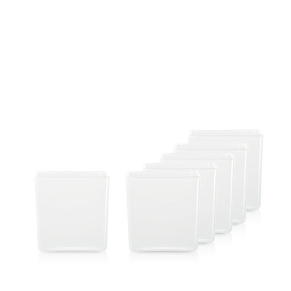 Pojemnik szklany do zalewu świec 70210 300 ml. biały połysk